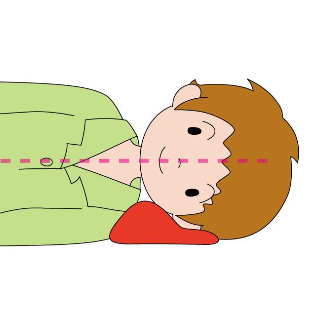 快眠枕の使い方