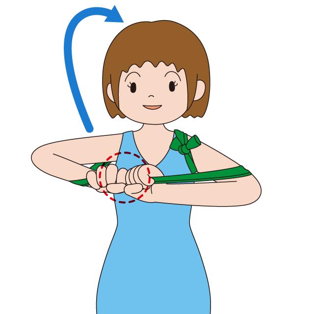 体操用ゴムチューブの使い方