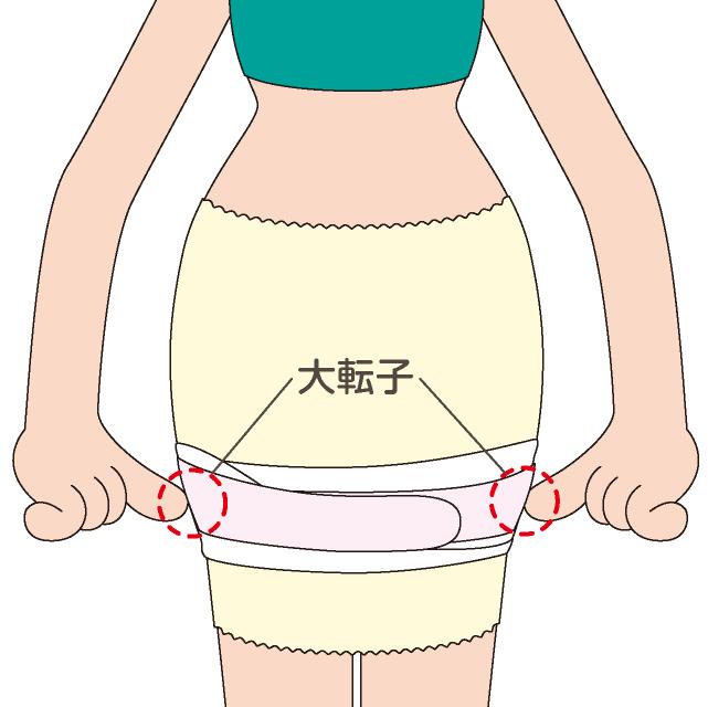 トコちゃんベルトⅠを使ったダブル巻き